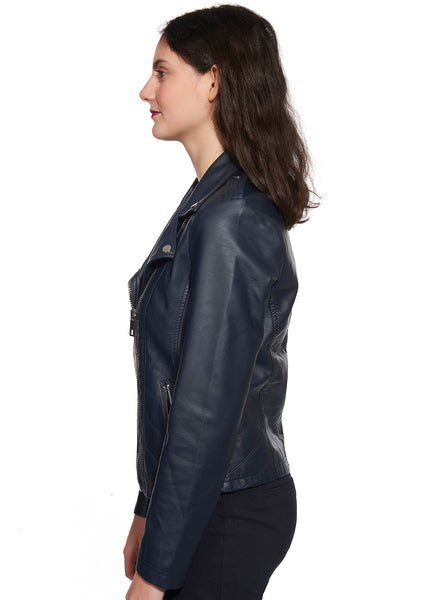 Zipper Detail Biker Jacket
