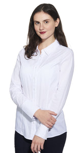 Long Sleeve Cotton Blend Shirt