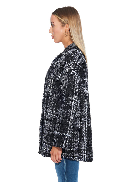 Plaid Knit Jacket - Italian