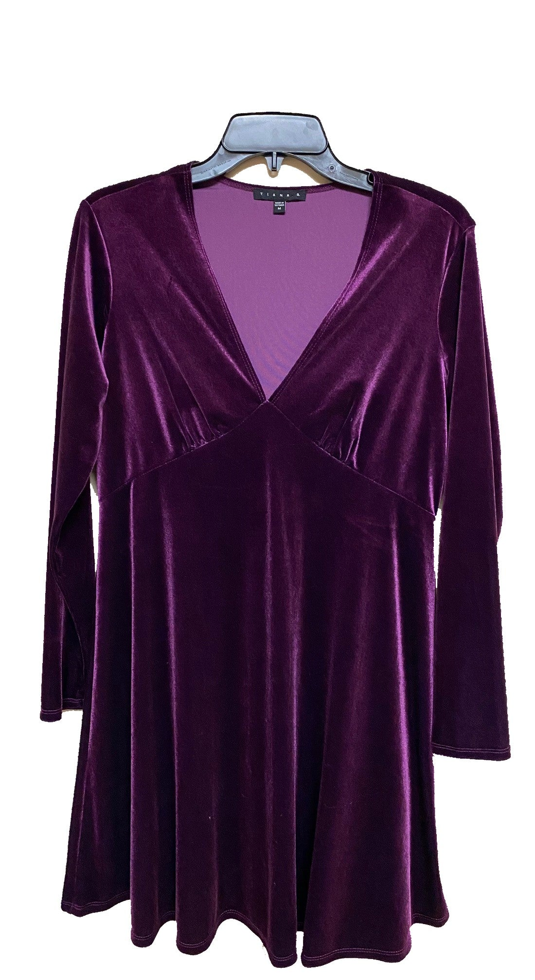 Long Sleeve Velvet Dress
