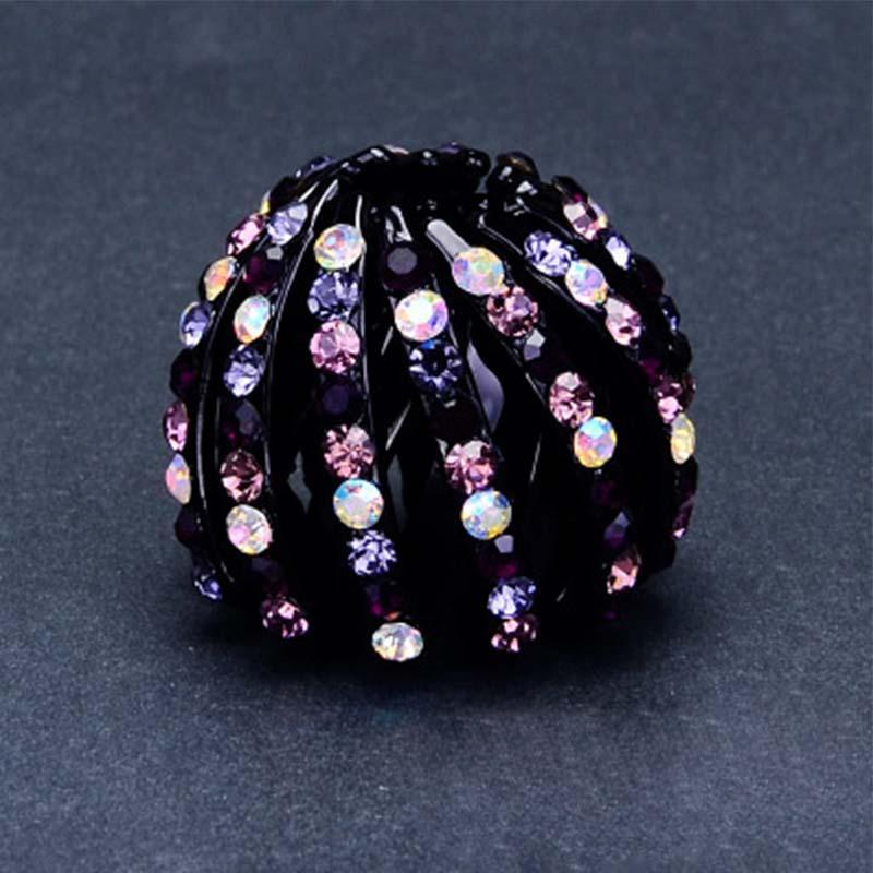 Bird's Nest Rhinestone Ponytail Hairpin