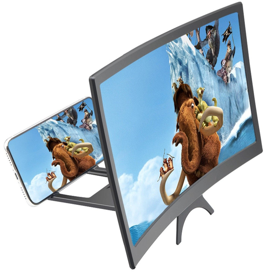 12 inch curved 3D HD mobile phone screen magnifier