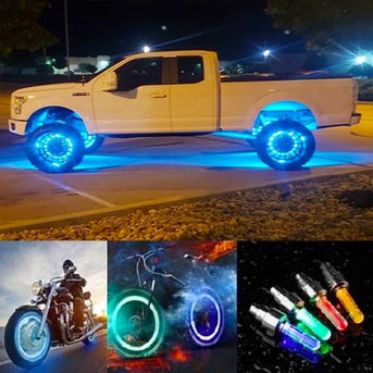 ( 50% OFF) Waterproof Led Wheel Lights - Suitable For All Vehicles