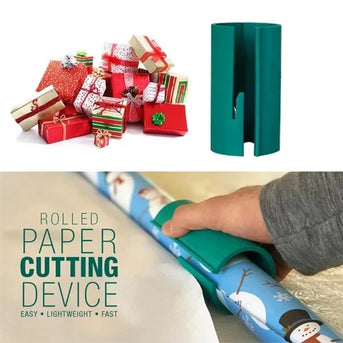 (Early Halloween Sale- Save 50% OFF) Sliding Wrapping Paper Cutter