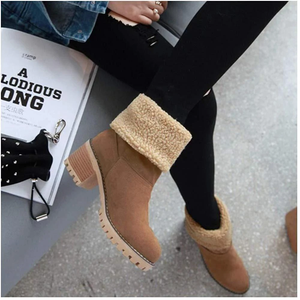 COSY Winter Premium Women Suede Snow Chunky Ankle Boots 2020