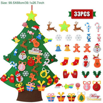 Kids Own DIY Felt Christmas Tree to Decorate !