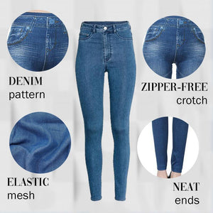 Margot Perfect Fit Skinny Stretch Pull-On Push-Up Plus-Size Denim Jeans Leggings