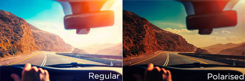 Differente between Polarised and Regular Lens Outdoor
