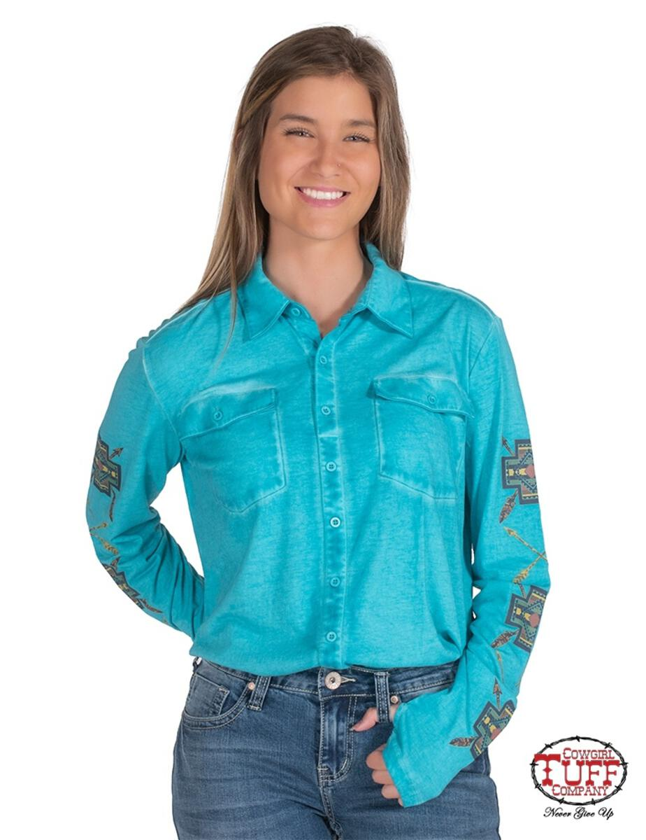 Cowgirl Tuff Arena Shirt (H00667)