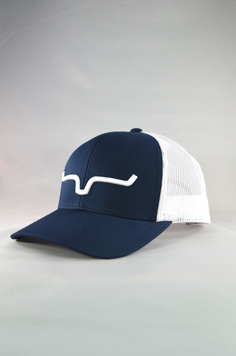 Kimes Ranch Weekly Trucker Cap - Navy/White