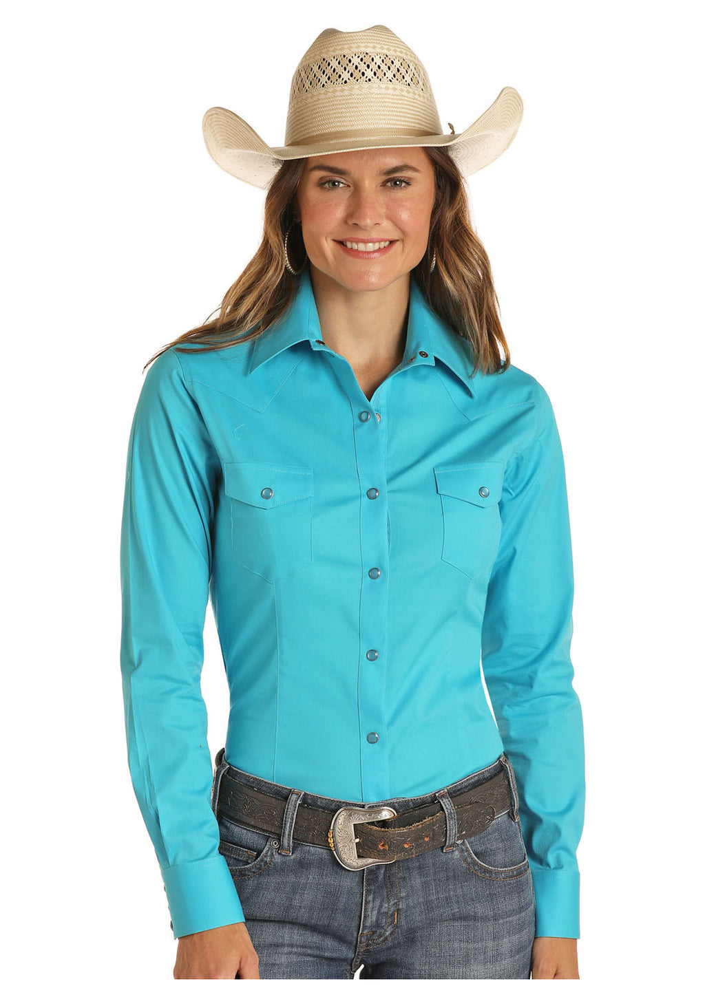 Panhandle Long Sleeved Shirt - Turquoise (22S8041)