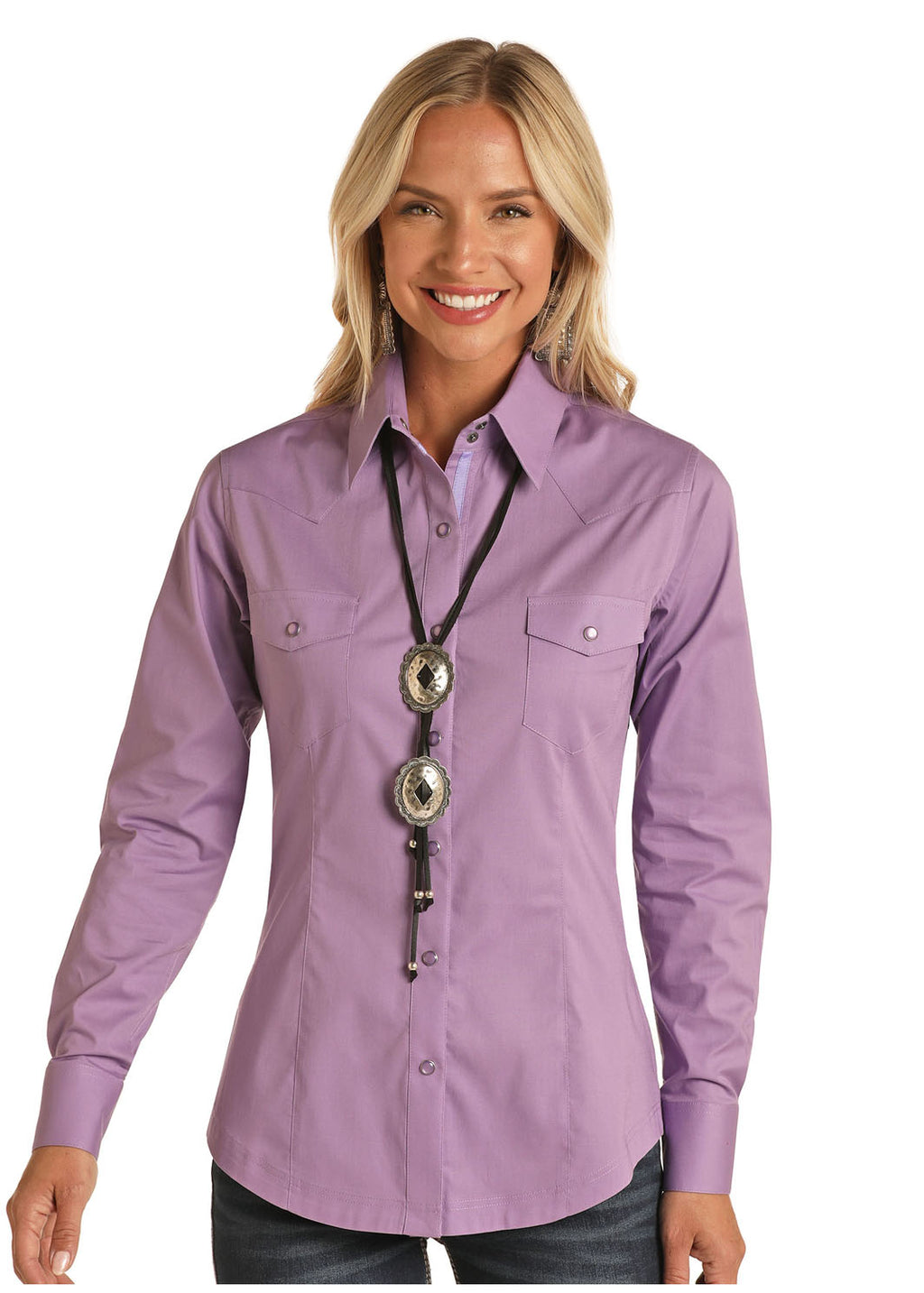 Panhandle Long Sleeved Shirt - Violet (22S8041)