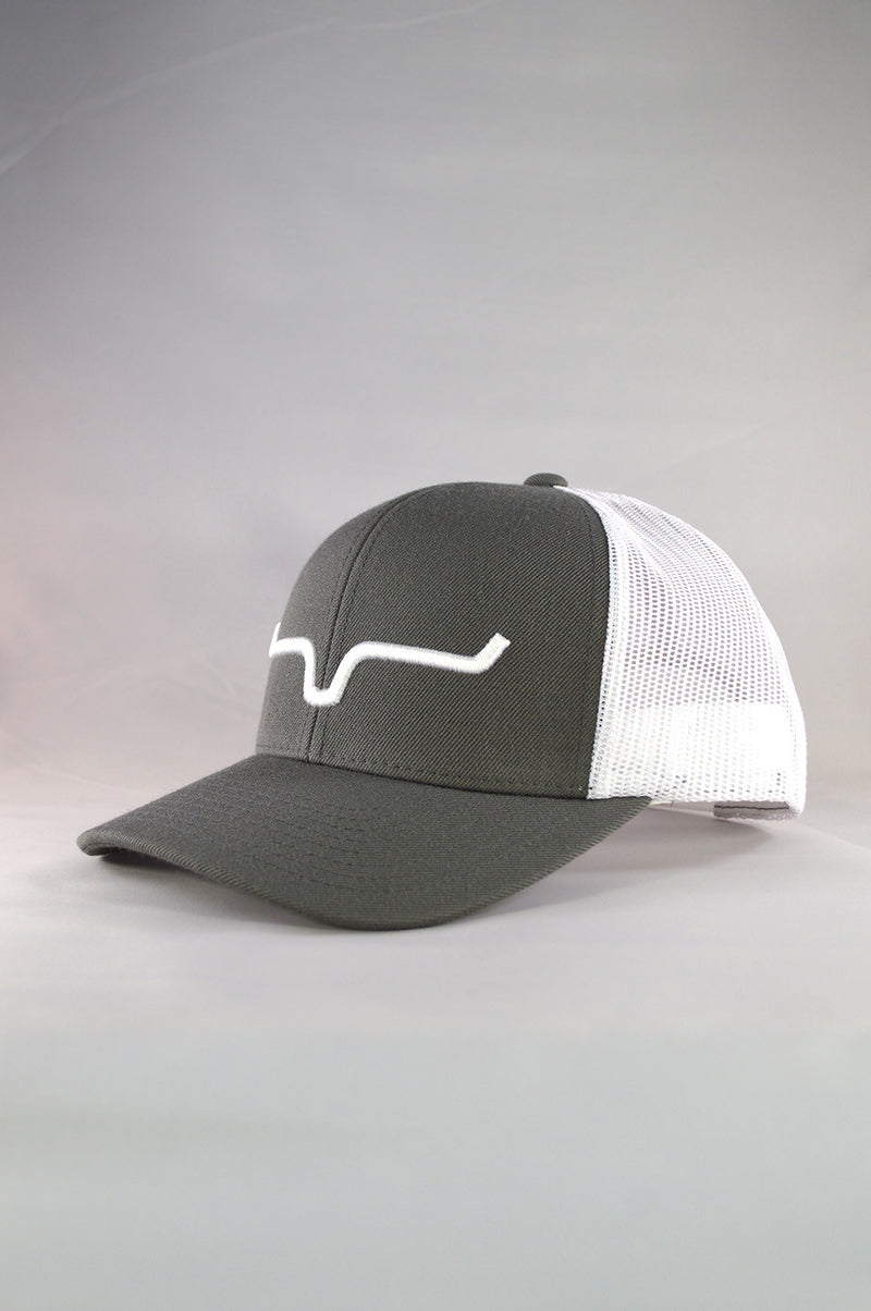 Kimes Ranch Weekly Trucker Cap - Charcoal/White