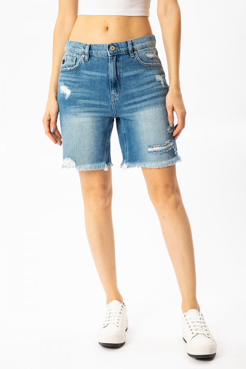 Kan Can - Medium Wash Shorts KC8585M
