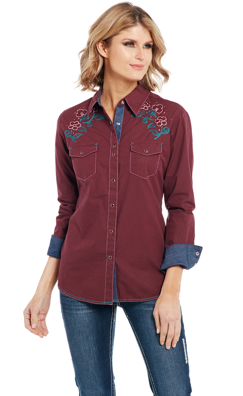 Cowgirl Up Long Sleeved Shirt (CG91102)