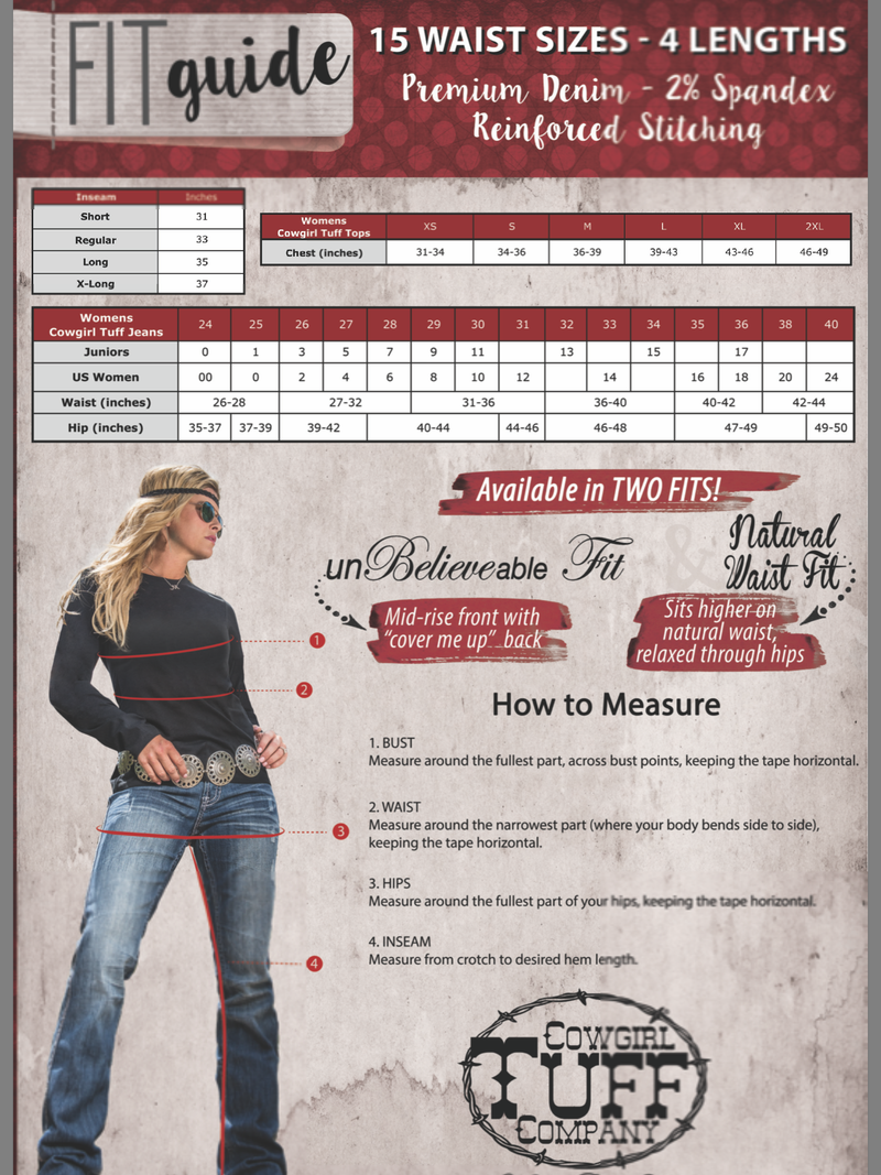 Cowgirl Tuff Jeans - Avalanche II