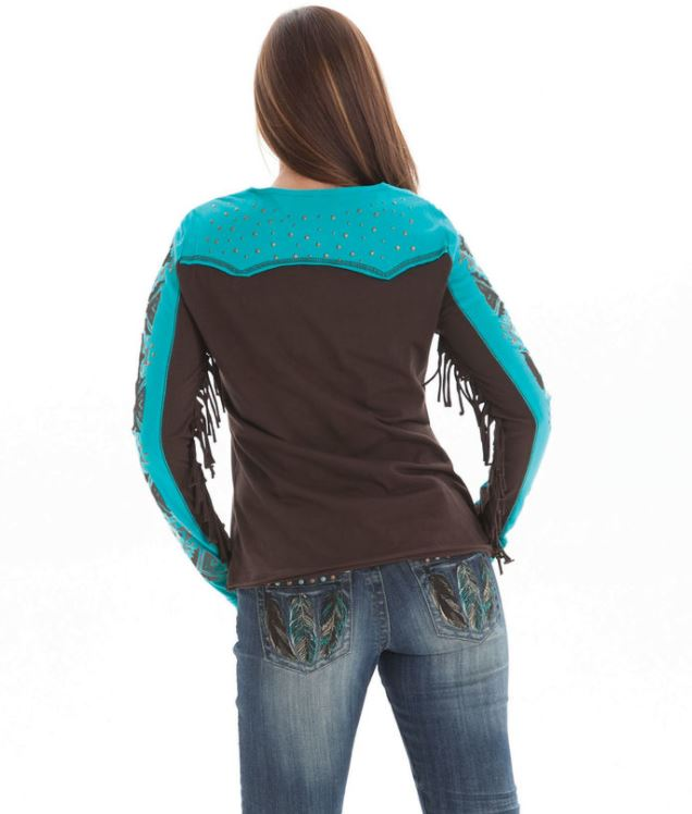 Cowgirl Tuff Long Sleeved Top (F00289)