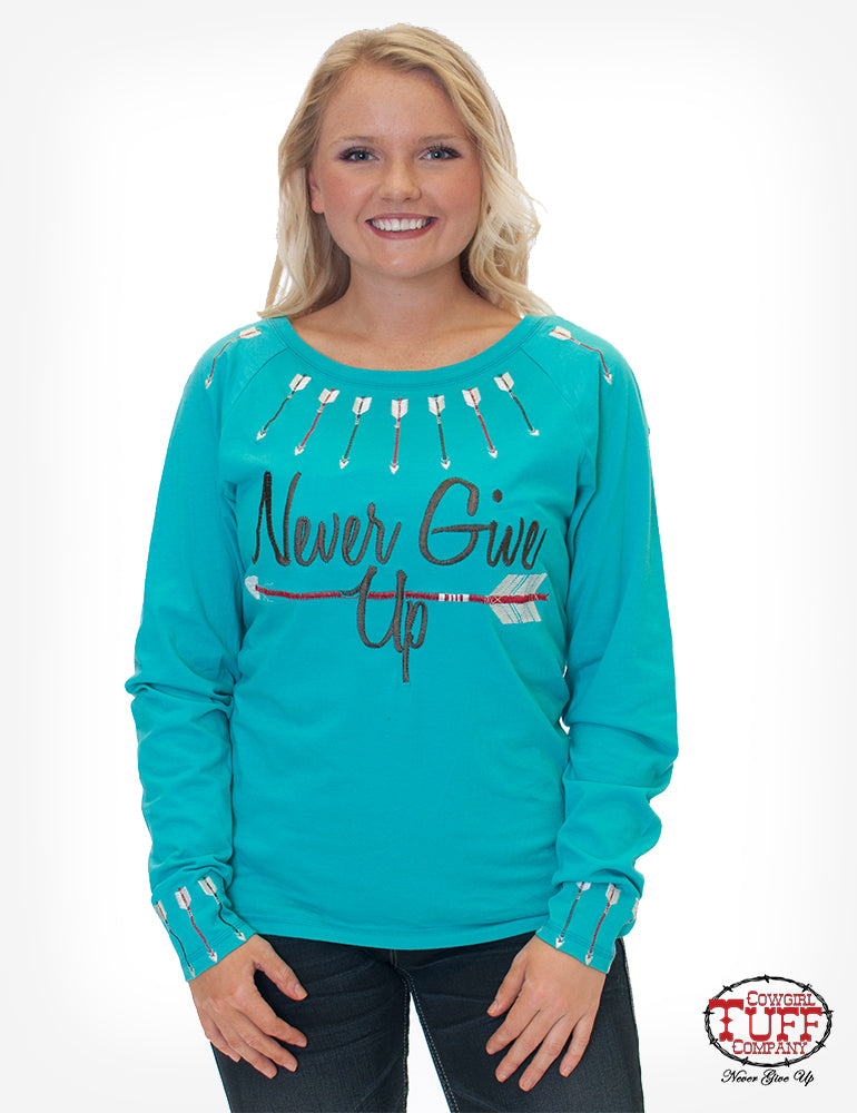 Cowgirl Tuff Long Sleeved Tee (F00371)
