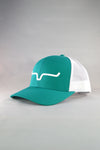 Kimes Ranch Weekly Trucker Cap - Teal/White