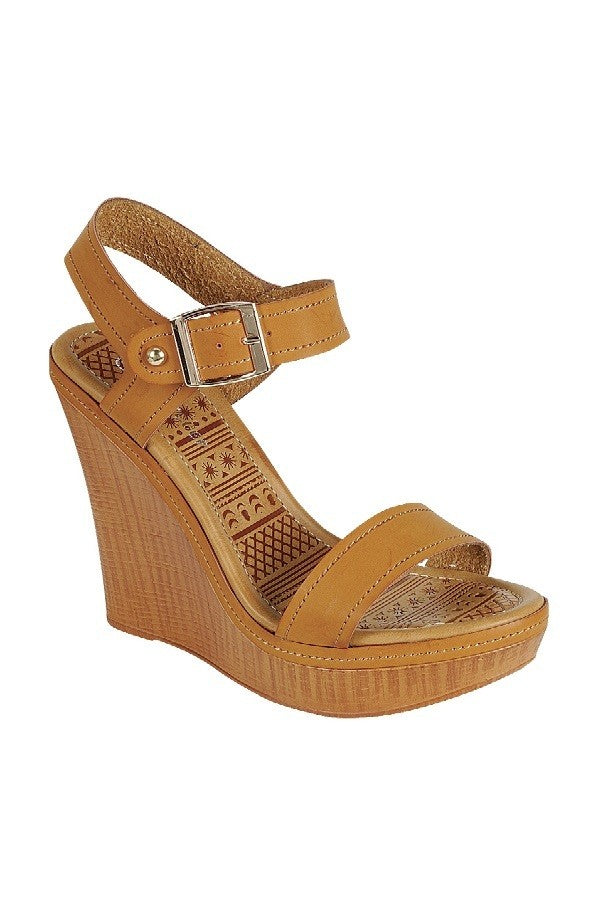 Tan Wedge - Sonnie