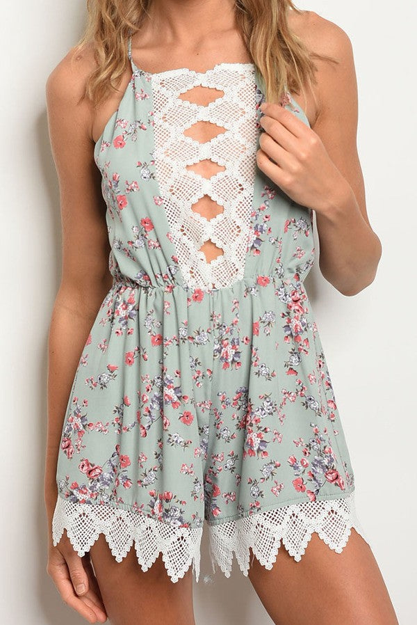 Bryony Playsuit - Sage