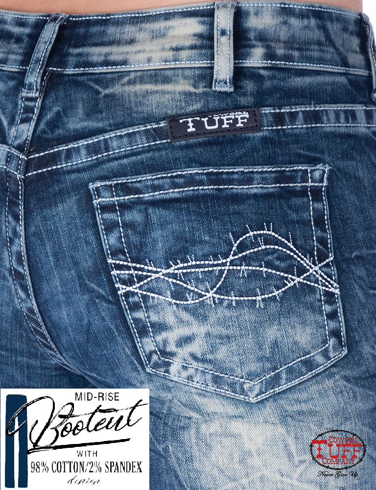 Cowgirl Tuff Jeans - Good Vibes
