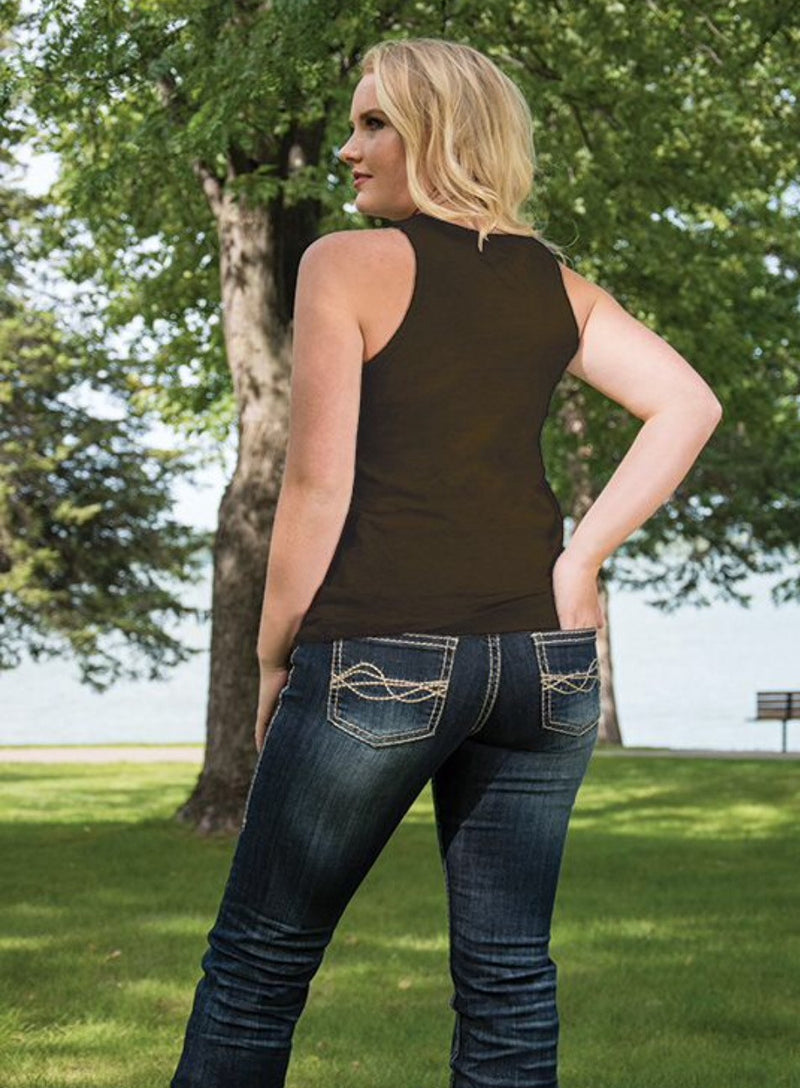 Cowgirl Tuff Racer Back Tank Top (S00801)