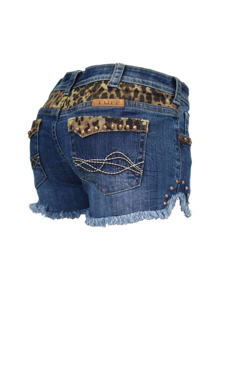 Cowgirl Tuff Shorts - Cheetah