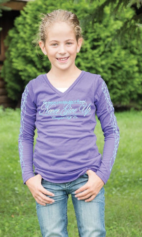 Girl's Cowgirl Tuff Long Sleeved Tee - F00327