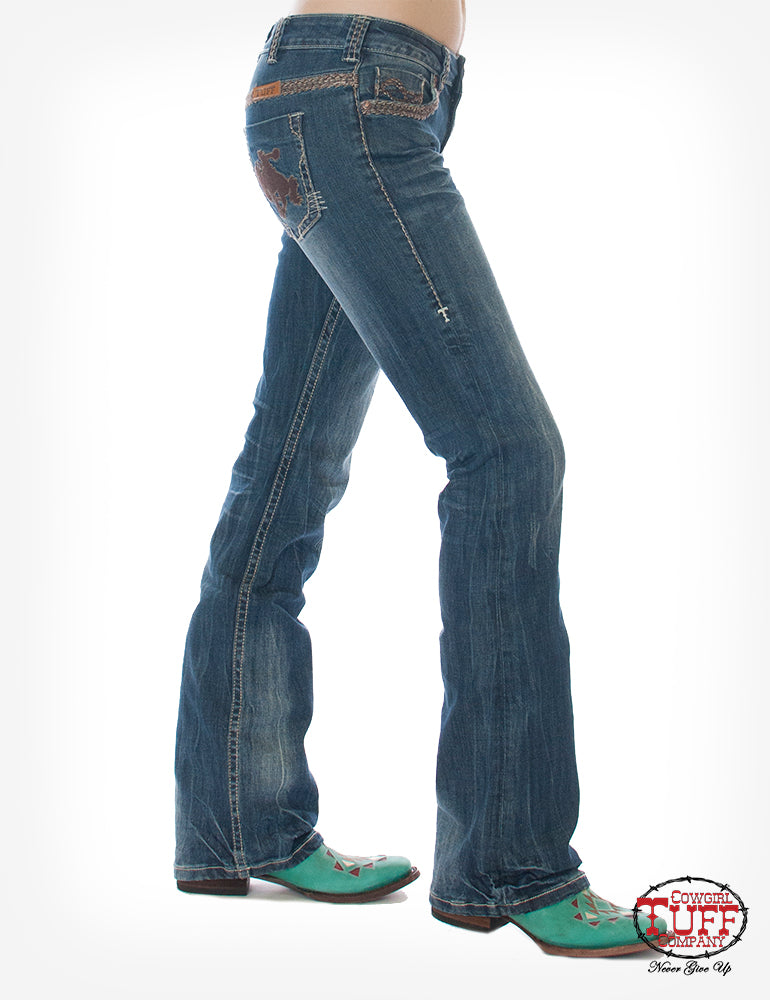 Cowgirl Tuff Jeans - Wild & Wooly Rides Again