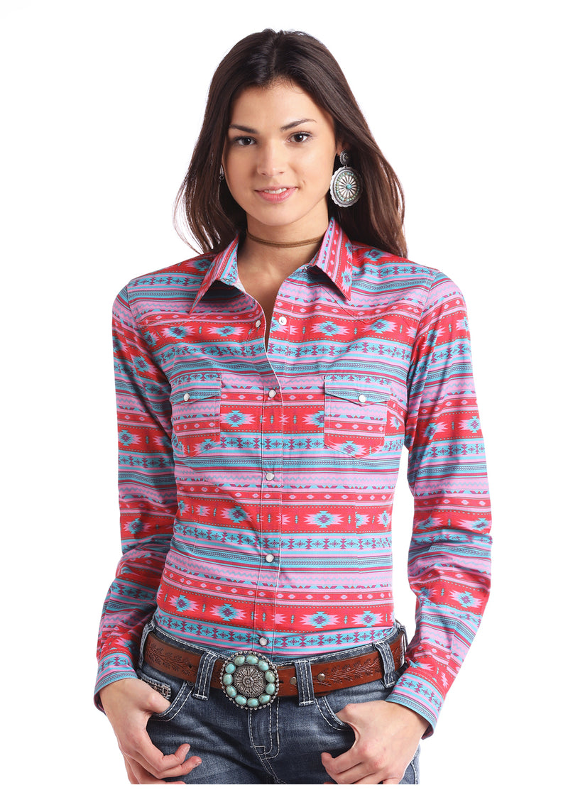 Rock & Roll Cowgirl Long Sleeved Shirt (J2S2953)