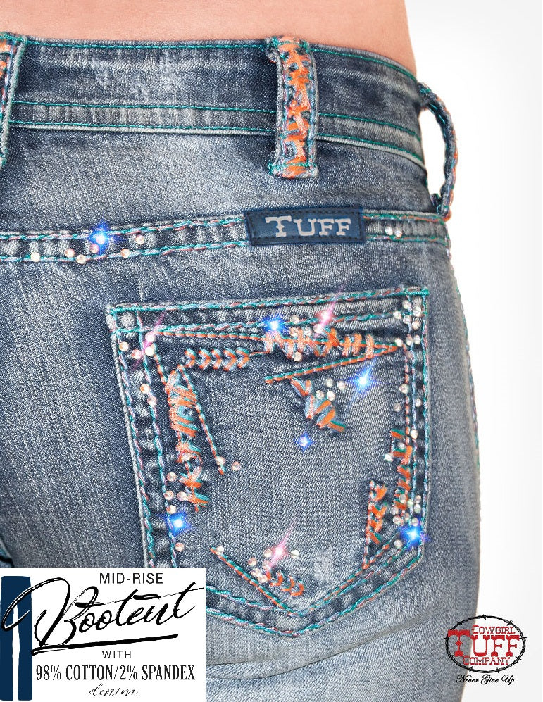 Cowgirl Tuff Jeans - Beach Bling