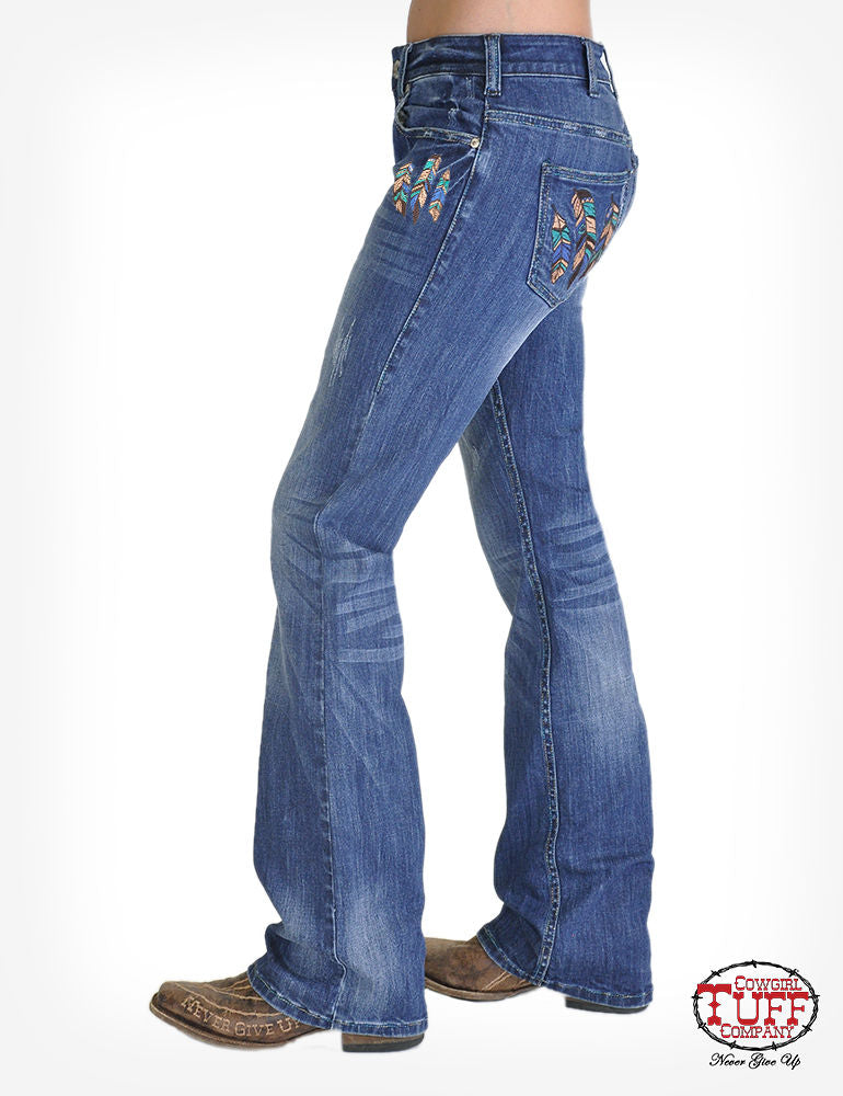 Cowgirl Tuff Jeans - High Feather
