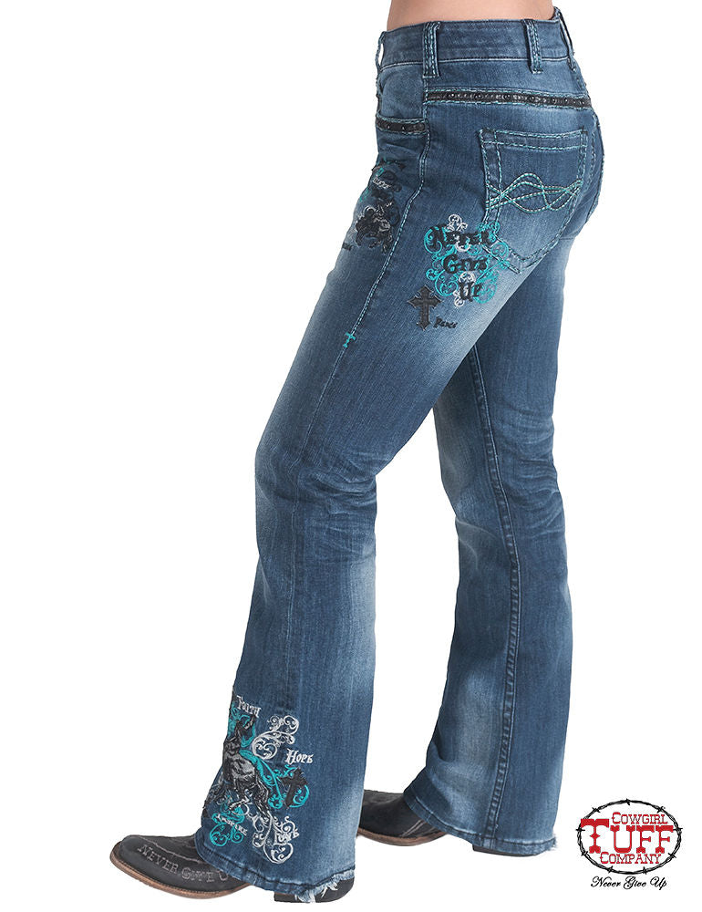Cowgirl Tuff Jeans - Unbelievable Turquoise Spirit