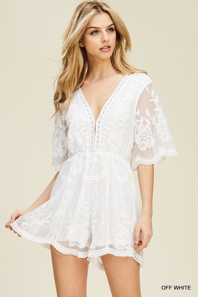 Daisy Playsuit - White
