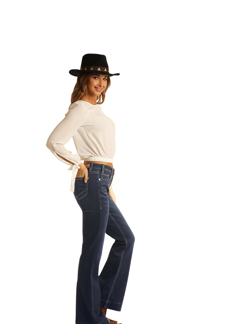 Rock & Roll Cowgirl Jeans - W8H6098 - High Rise Trouser