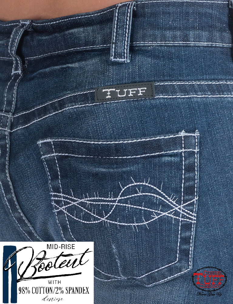 Cowgirl Tuff Jeans - White Mustang