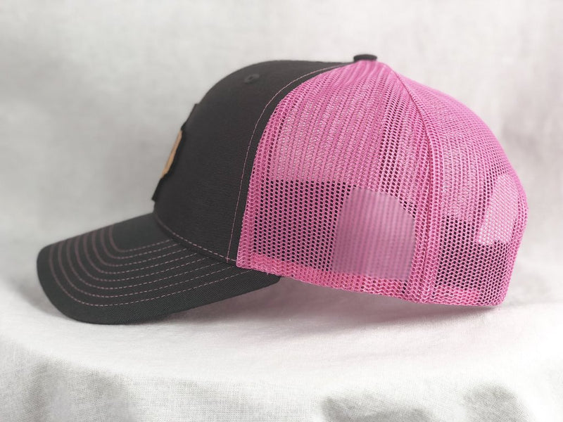 CR Ranchwear Trucker Cap - Pink and Grey