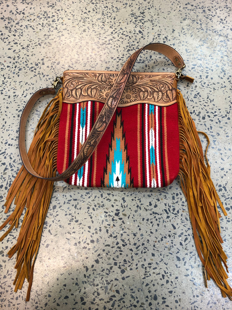 Delilah - Saddle Blanket and Leather Handbag