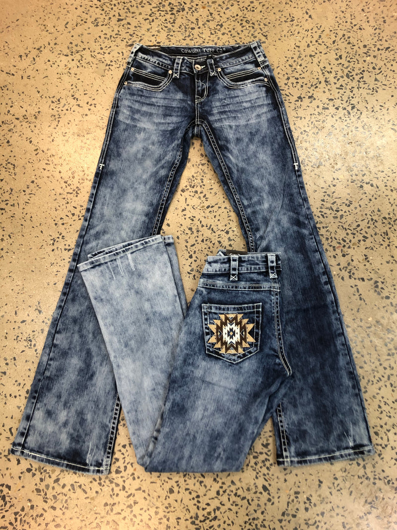 Cowgirl Tuff Jeans - OMG Aztec