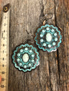 Western Earrings - Patina and Turquoise