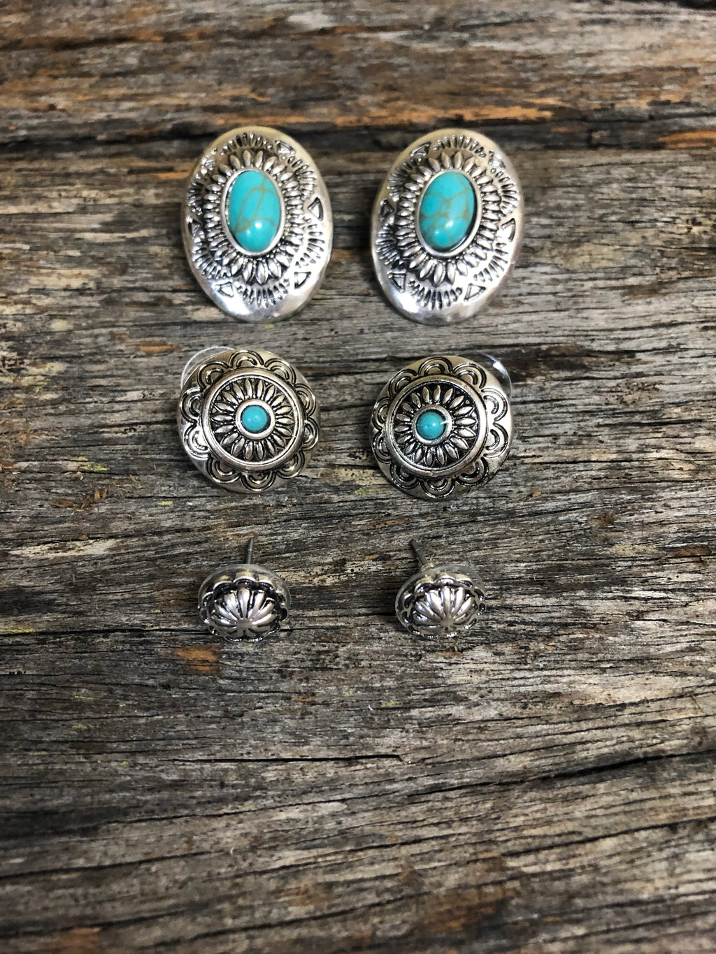 Earring Trio - Silver & Turquoise