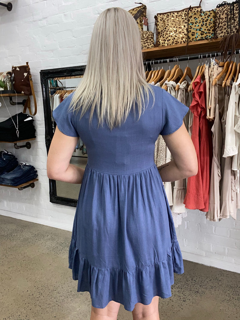 Robyn Dress - Indigo