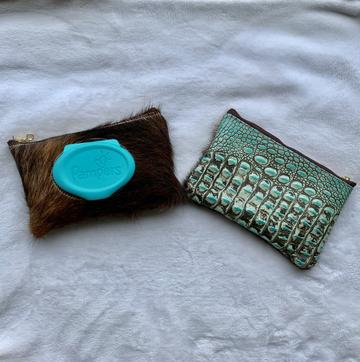 Wipe Pouch - Brindle & Turquoise Gator