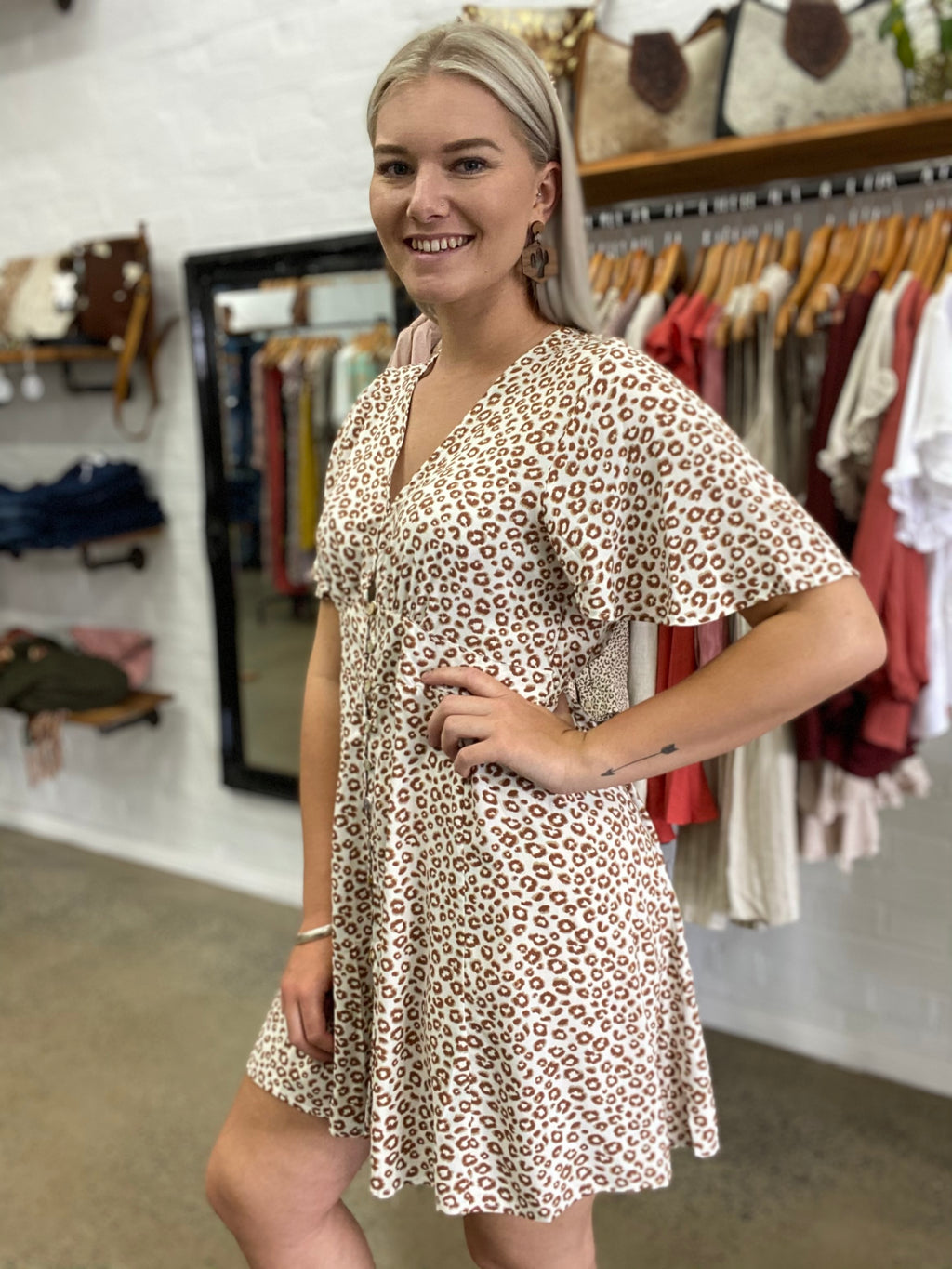 Isla Dress - Leopard