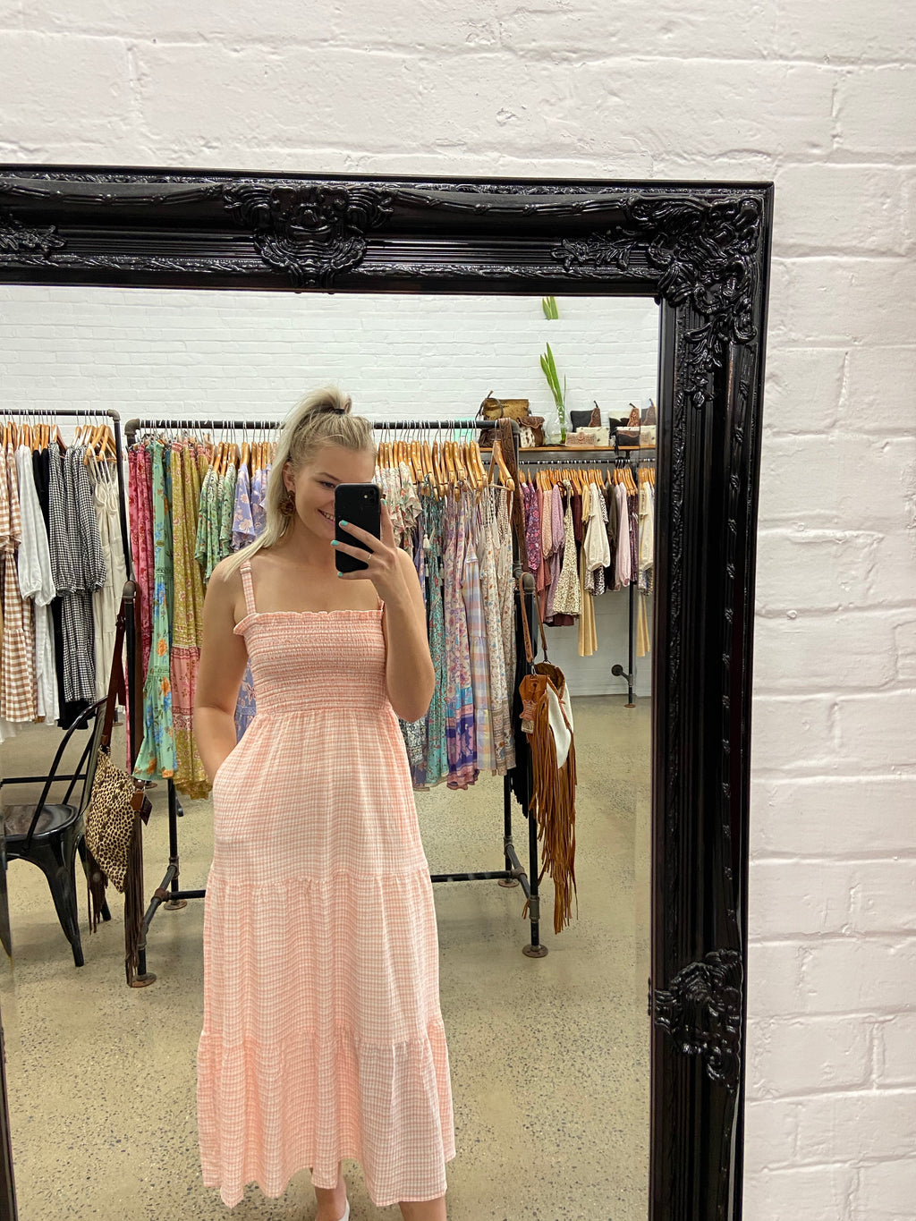 Natalie Dress - Peach