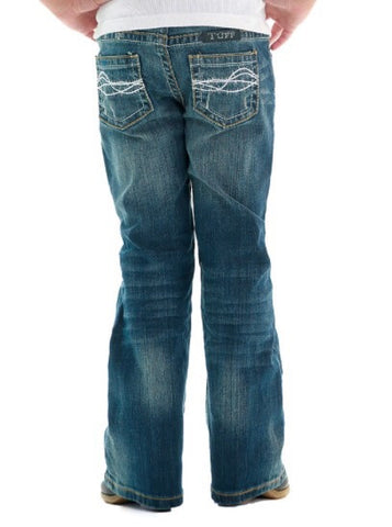 Cowgirl Tuff Jeans - Medium Wash Just Tuff