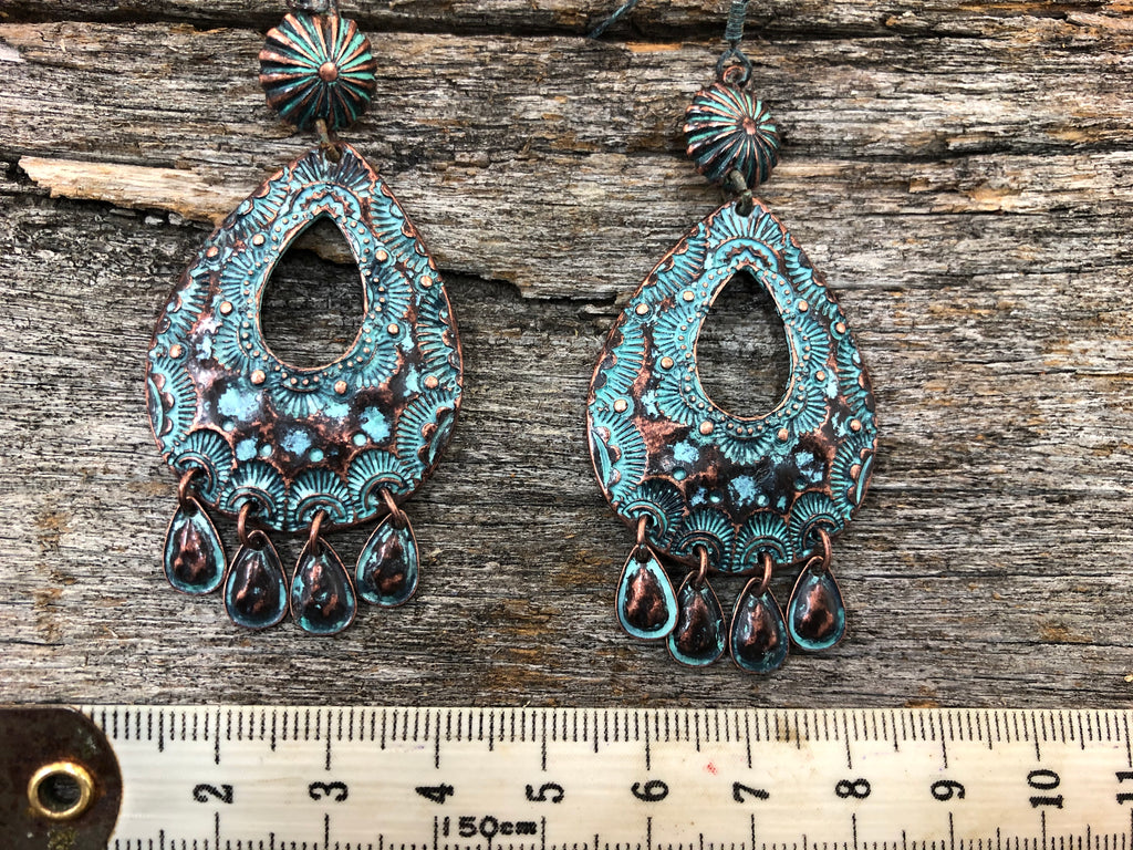 Western Earrings - Patina