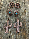 Earring Trio - Copper & Turquoise