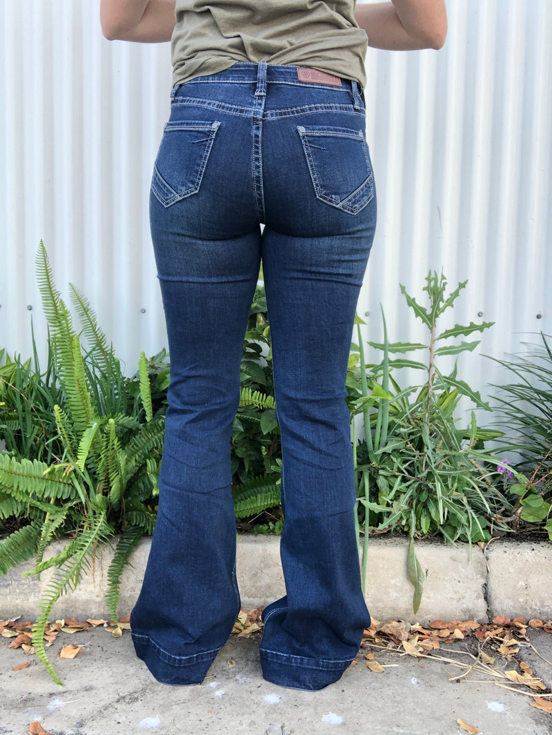 Rock & Roll Cowgirl Jeans - W8H6092 - High Rise Trouser